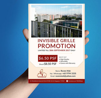 flyer-invisible grille